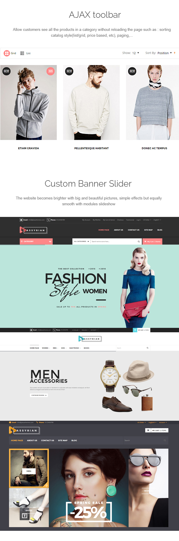Assyrian - Responsive Fashion Prestashop Theme