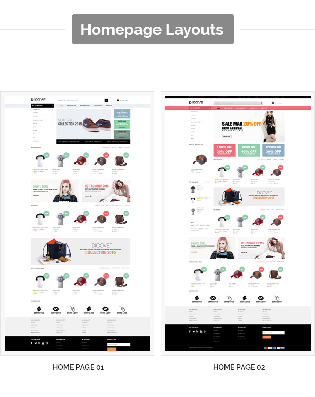 Dicove - Fashion Responsive Prestashop Theme