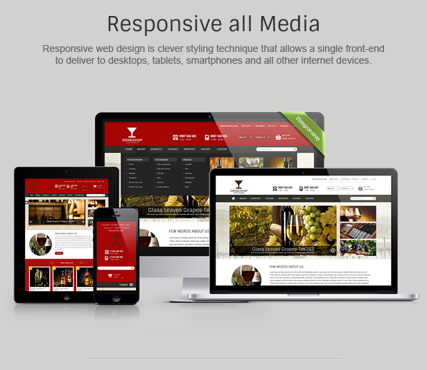 Drink Shop Responsive Prestashop Theme