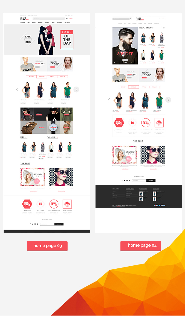 Elise - Advanced Fashion Prestashop Theme + Blog