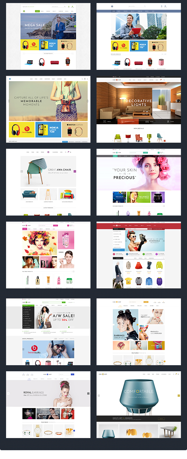 HugeShop - Wonderful Multi Concept Responsive HTML Template