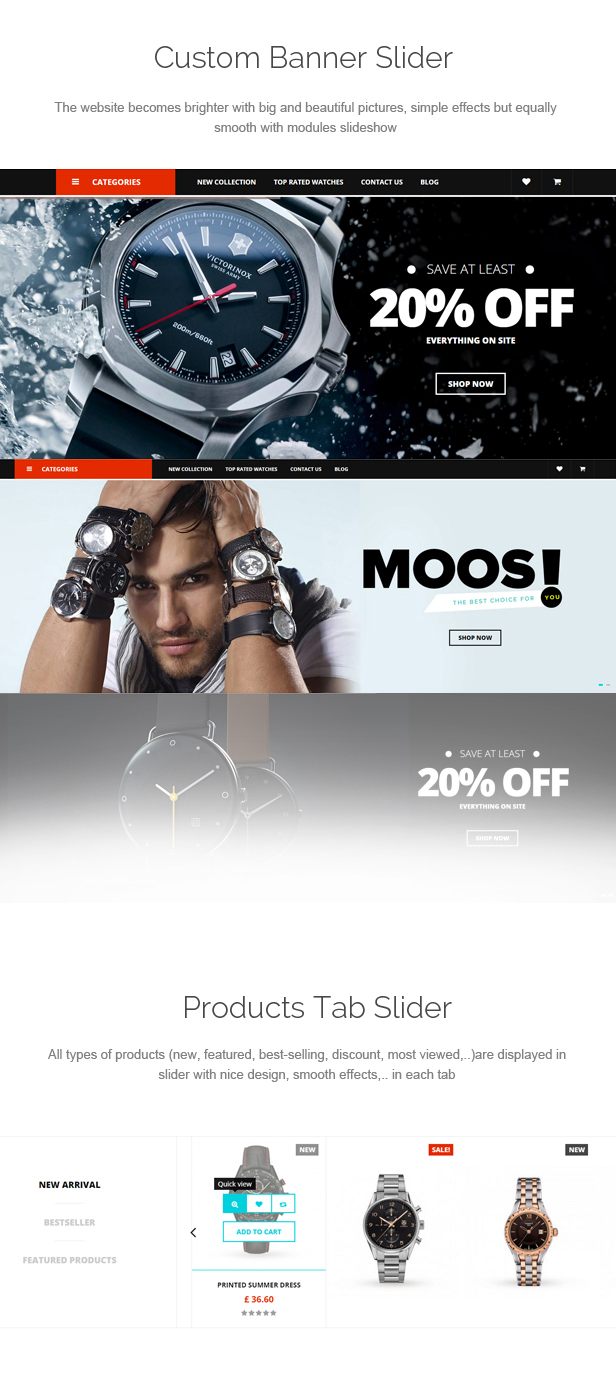 Moos - Watches Store Responsive Prestashop Theme