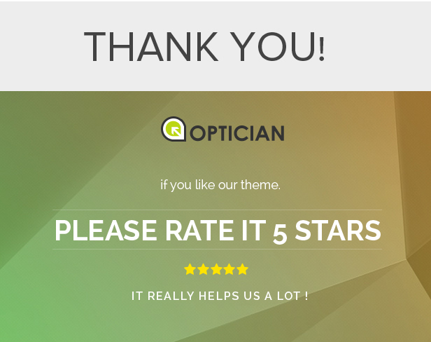 Optician - Responsive Prestashop Theme
