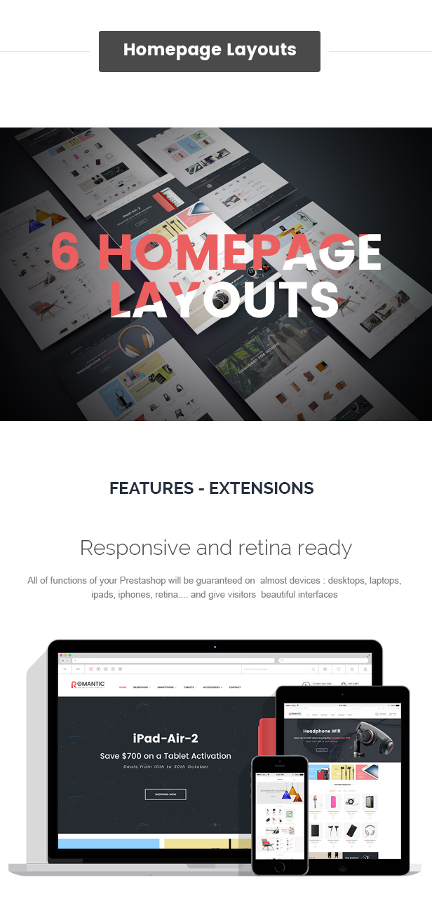 Romantic - Multipurpose Responsive Prestashop Theme